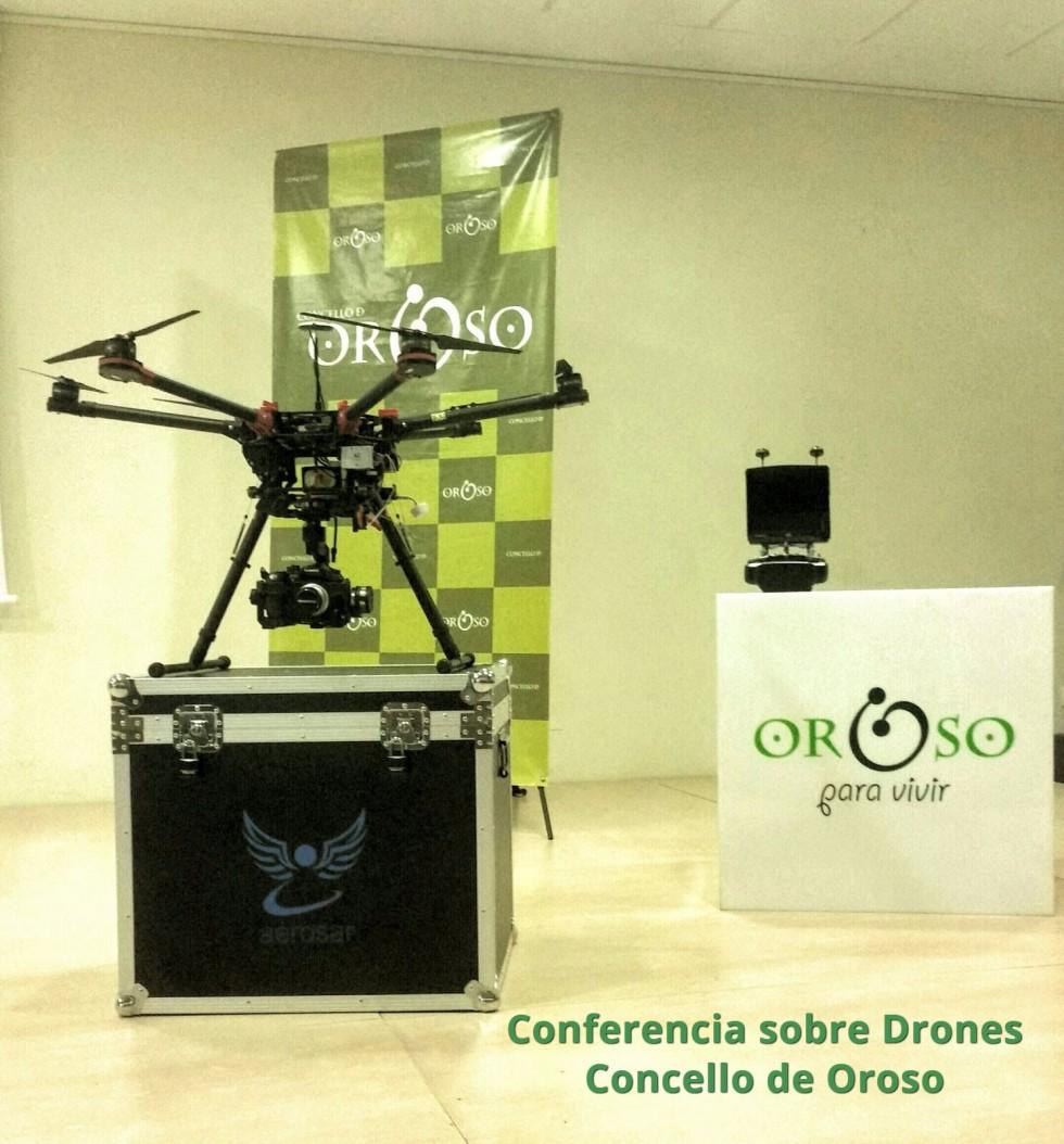 Conferencia Drones Concello de Oroso, Aerosar