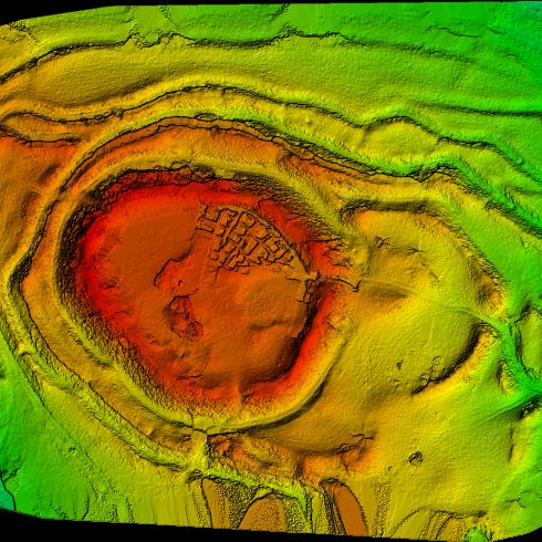 Castro de Castromaior, modelo digital de superficie. Aerosar.